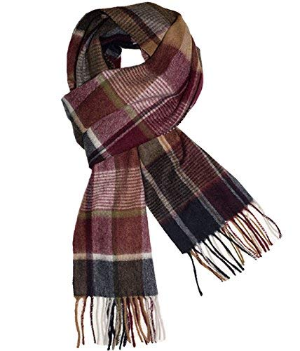The Tie Bar Roscoe Plaid Olive Green Knit Scarf