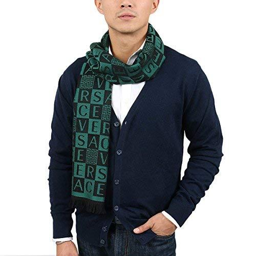 Versace IT00629 VERDE Emerald Green 100% Wool Mens Scarf