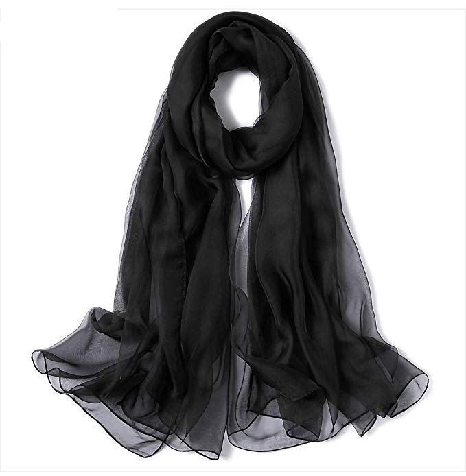 Solid Color Linen Silk Scarf,Super Large Fashion Scarf,Can Be Used as Shawl,Beach Scarf and Wrap