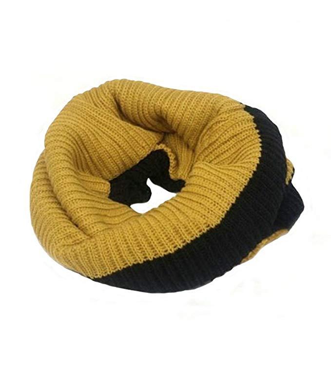 BININBOX Unisex Two Tone Knit Infinity Circle Loop Scarves