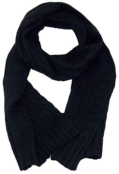 Angela & William Adult Tight Cable Knit Scarf