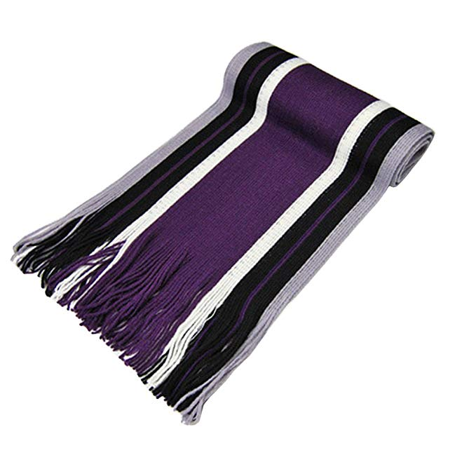 JYS365 Classic Acrylic Feel Men's Winter Scarf Long Fringe in Rich Plaids