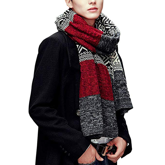 FakeFace Fashion Soft Knitted Winter Scarf Scarves Neckwrap