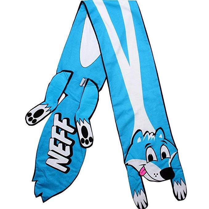 Neff Skunk Scarf Cyan, One Size