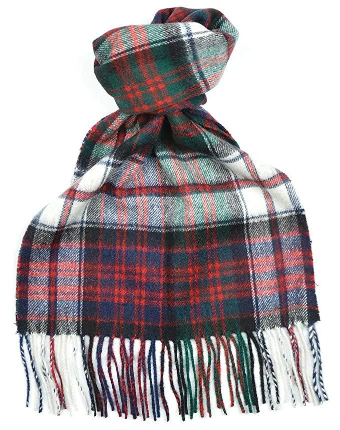 Lambswool Scottish Macdonald Dress Modern Tartan Clan Scarf Gift