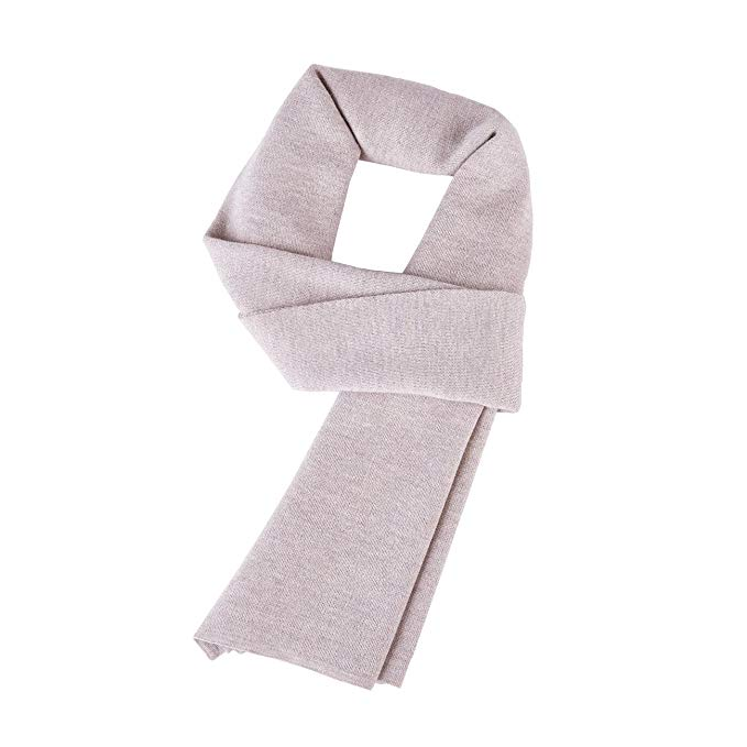 FYDRISE Mens Winter Scarf Classic Wool Solid Color Neck Scarves