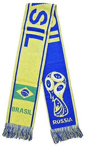 Brasil Athletic Super Fans Football Jacquard Scarf