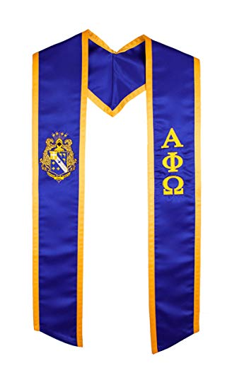 Alpha Phi Omega Fraternity / Sorority Deluxe Embroidered Graduation Stole