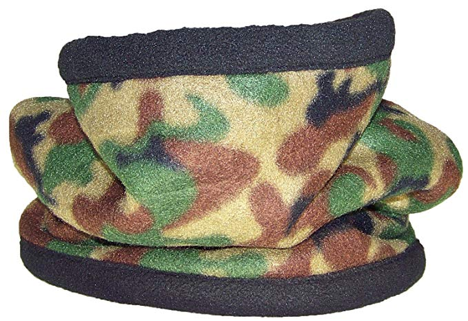 Best Winter Hats Reversible 100% Polyester Fleece Neck Gaiter/Warmer