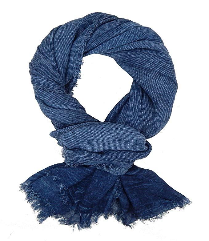 Ella Jonte mens scarf casual-style blue vintage