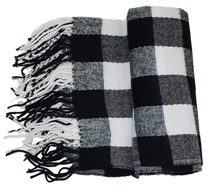 Ted and Jack - Jack's Classic Oversized Cashmere Feel Buffalo Check Wrap/Scarf