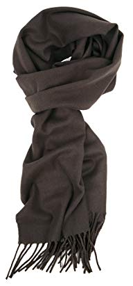 Love Lakeside-Men's Cashmere Feel Winter Solid Color Scarf Dark Grey