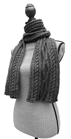 MADE TO ORDER IN ANY COLOR - Knitting Diamond PURE ALPACA Scarf (Charcoal)