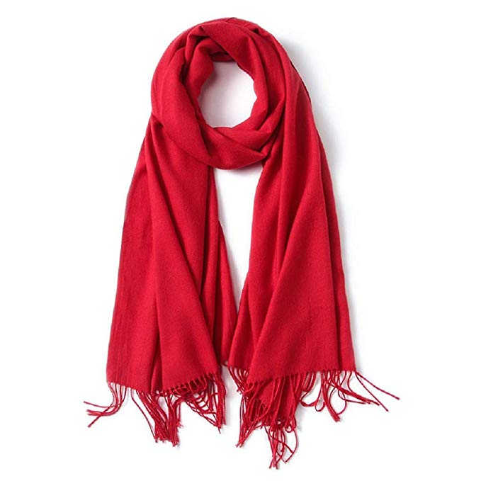 Men's Scarf, Fashion Cashmere Feel Scarves for Men Winter Autumn with Tassels Long