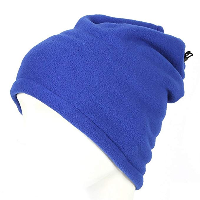HuaYang Unisex 3 in 1 Winter Skiing Cycling Hiking Snood Scarf Hat Neck Warmer Face Mask Blue