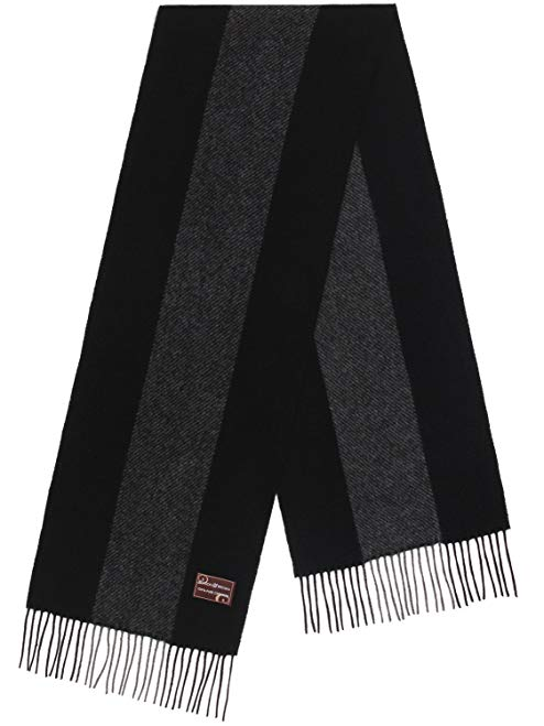 Men's Winter Fashionable Soft 100% Pure Cashmere Classic Long Scarf - By Benson & Brown