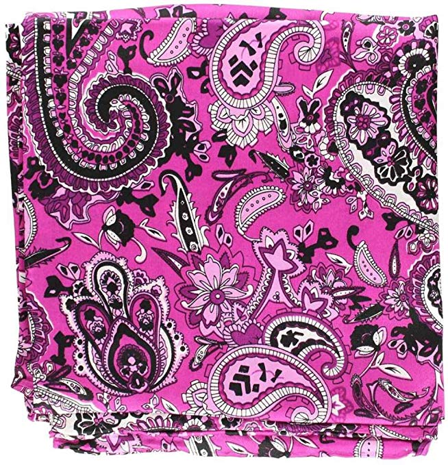 M & F Western Men's Paisley Silk Wild Rag Purple One Size