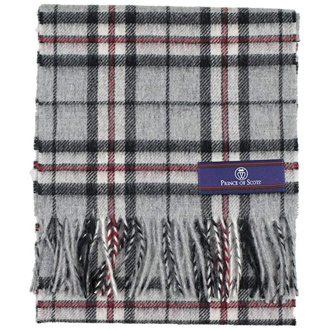 Prince of Scots 100% Pure Merino Lambswool Tartan Scarf