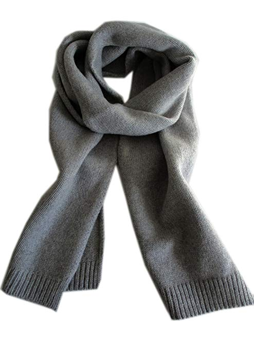 Frost 95% Cashmere 5% Wool Scarf Unisex All Natural Solid Scarf
