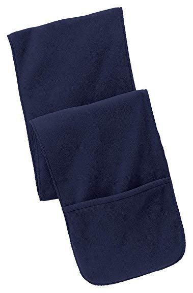 Port Authority Extra Long Fleece Scarf with Pockets