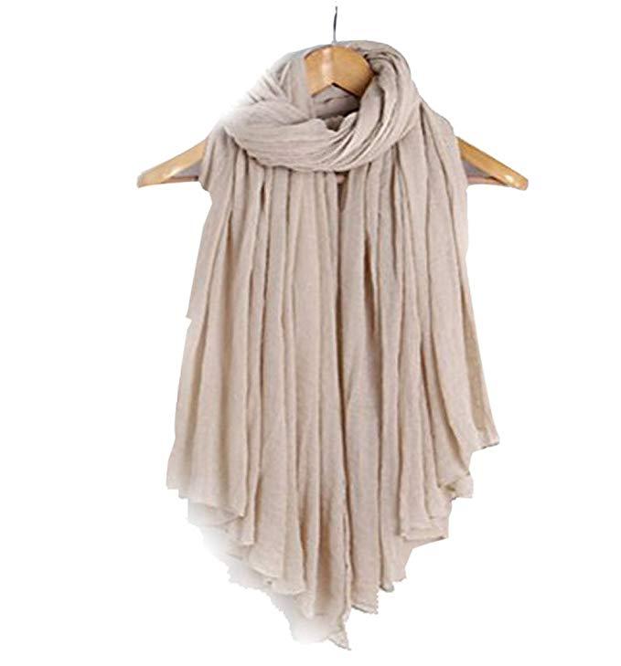 Qingsun Women's Scarf Cotton Linen Soft Loop Long Scarves 71