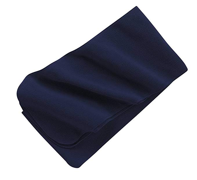 Extra Long Fleece Scarf, Color: Navy, Size: One Size
