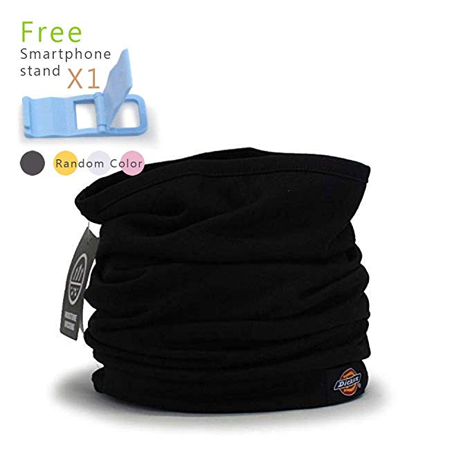 Dickies Black Fleece Neck Warmer, Gaiter