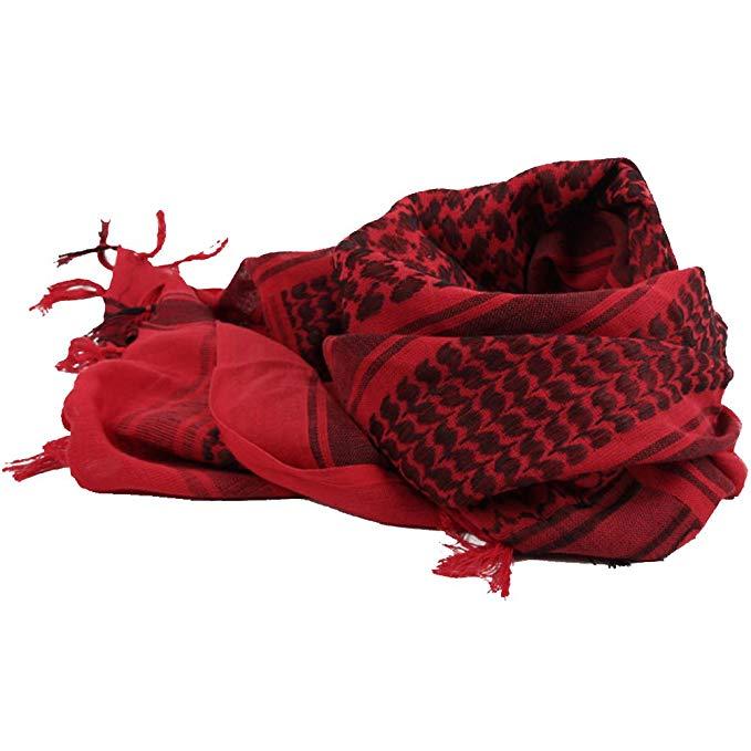 Unisex Arab 100% Cotton Square Neck Shemagh Keffiyeh Palestine Shawl Scarf Wrap