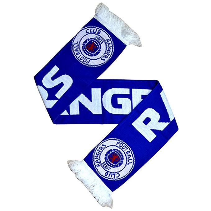 Rangers FC Official Soccer/Football Supporters Crest/Logo Bar Scarf