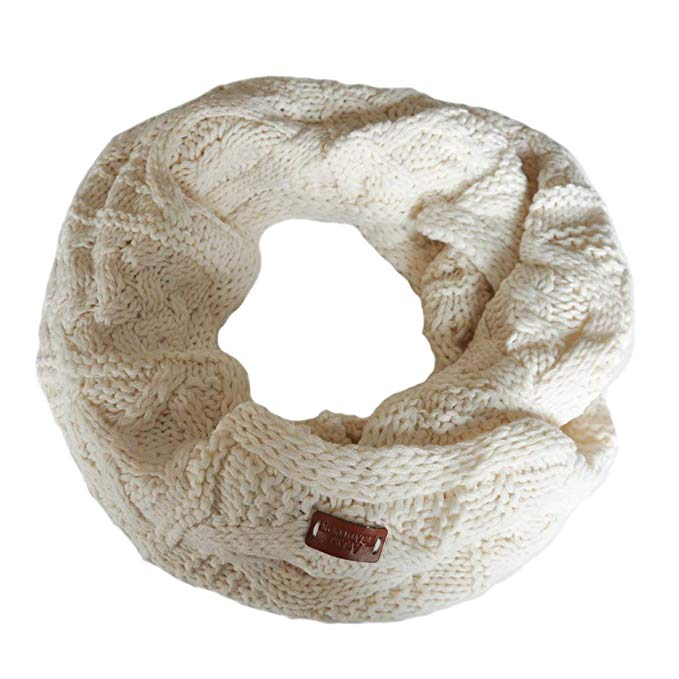 Carrolls Irish Gifts Aran Traditions Knitted Style Cable Design Snood, Cream Colour