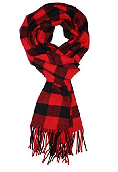 Men's Scarves Hot Sale Classic Arrival Spring Plaid Scarf Tassel Edge Soft Warm Scarf