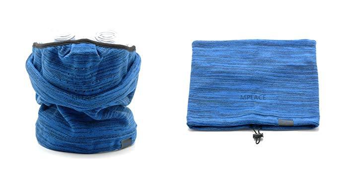 Fleece Mask Neck Warmer BLUE-Winter Outdoor Sports Neckgaiter Facemask Scarf Bandana