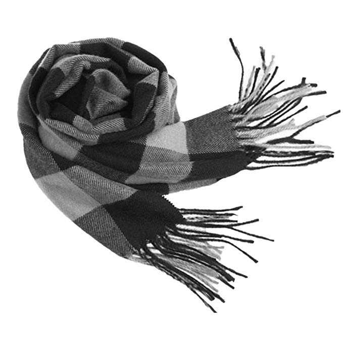 Winter Hats Scarf Set Men Women Keep Warm Soft Fashion Warp Knitting Classical Plaid Wool Scarf