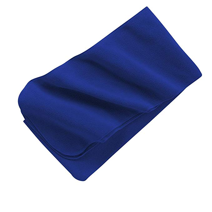 Extra Long Fleece Scarf, Color: Royal, Size: One Size