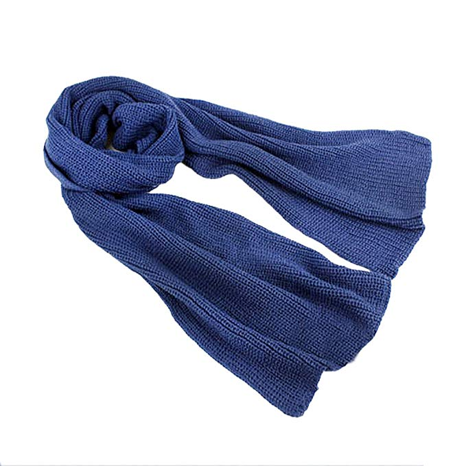 Mens Womens Winter Warm Knitted Long Scarves Classic Casual Leisure Soft Thick Neck Warmer Outedoor Cycling Camping Ski Snowboarding Scarf Muffler, Xmas Velentine's Birthday Gift