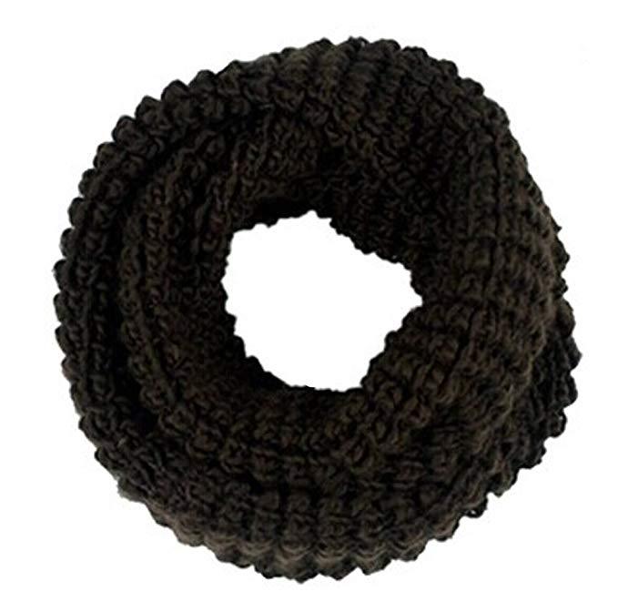 ieasysexy New Men's Winter Tone Super Soft Warm Knit Wool Infinity Scarf Cowl