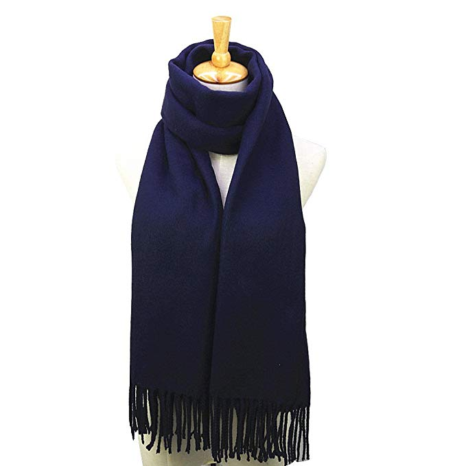 Men's Cashmere Feel Winter Warm Solid Color Scarf for Gift