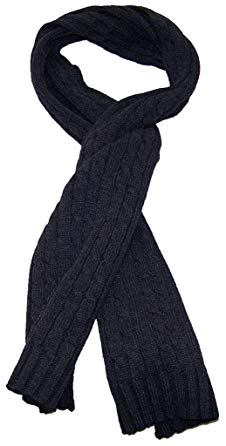 Angela & William Adult Tight Cable Knit Scarf 64