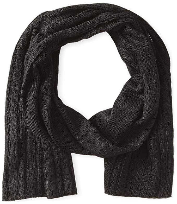Haggar Men's Cable Knit Scarf