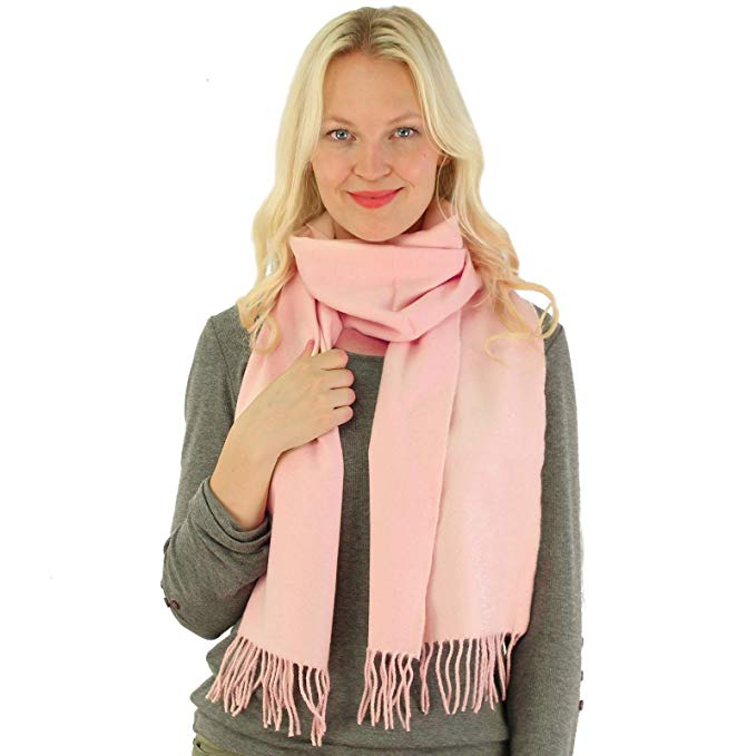 Winter Unisex Ultra Soft Classic Solid Plain Long Fringe Oblong Scarf Wrap