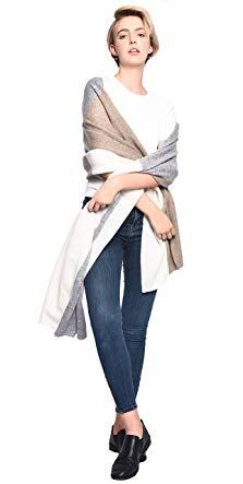 3VERY Men's Women's Unisex 100% Cashmere Multi Color Wrap
