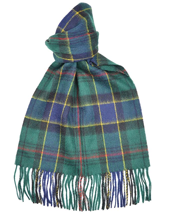 Lambswool Scottish Ogilvie Hunting Modern Tartan Clan Scarf Gift