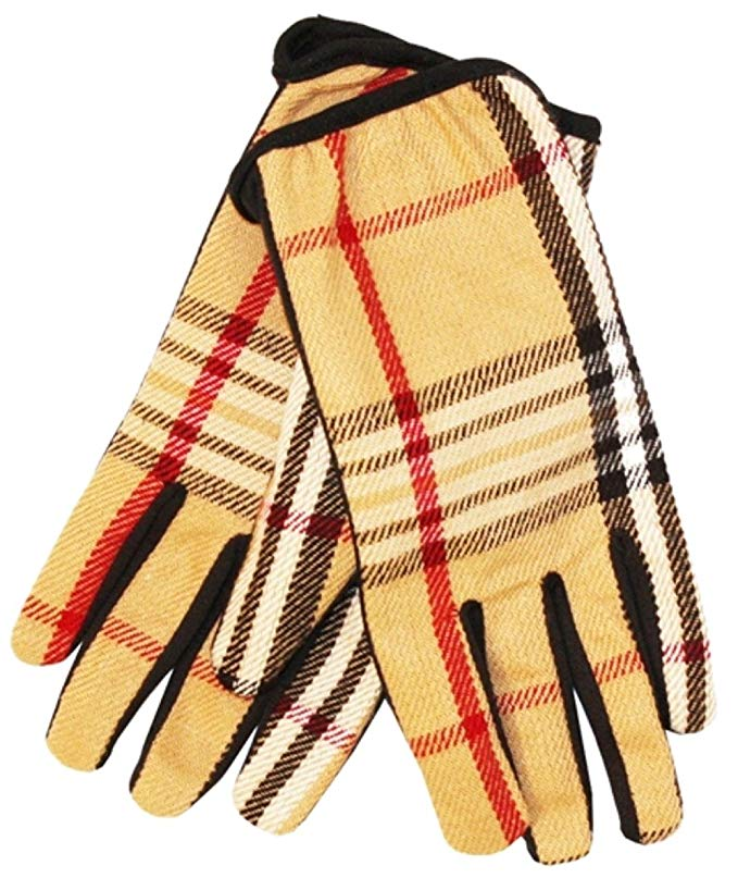 Titfus Classic Cashmere Feel Winter Infinity Scarf in Rich Plaids Matching Touch Screen Gloves