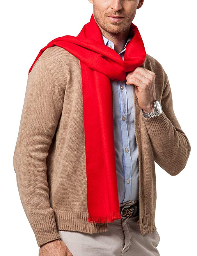 Shubb Men's Fashion Scarves for Winter Cashmere Feel Scarf for Men 70.8 11.8 IN