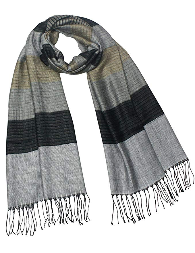 Dahlia Men's Awning Stripe Rayon Blend Long Scarf