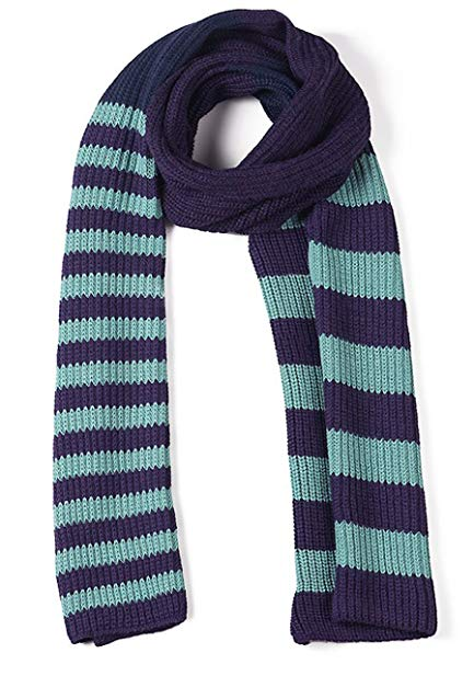 Varsity Striped 100% Baby Alpaca Tri-color Scarf - Muffler Like No Other