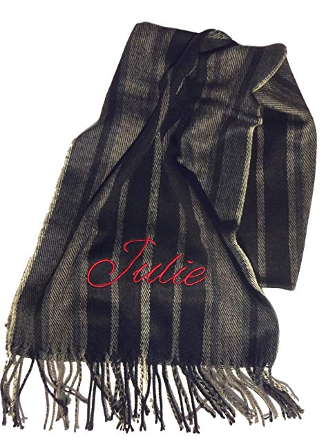 Christmas Sale Classic Custom Monogram Personalized Wide Winter Chevron Scarf for Men