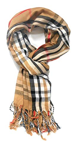 Classic Designer Inspired plaid large throw scarf shawl