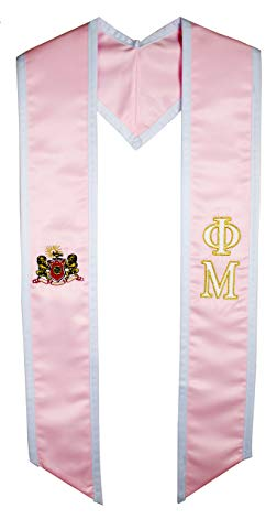 Phi Mu Sorority Deluxe Embroidered Graduation Stole