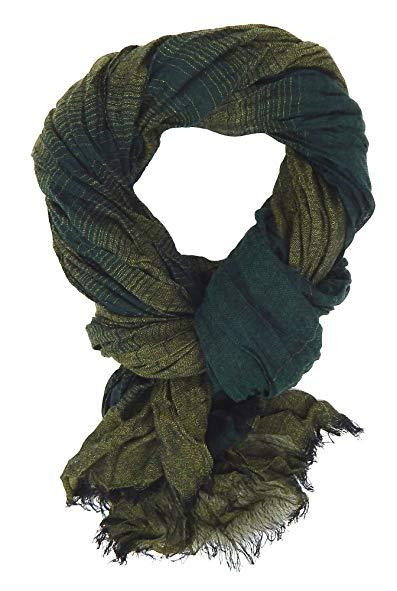 Ella Jonte mens scarf green striped